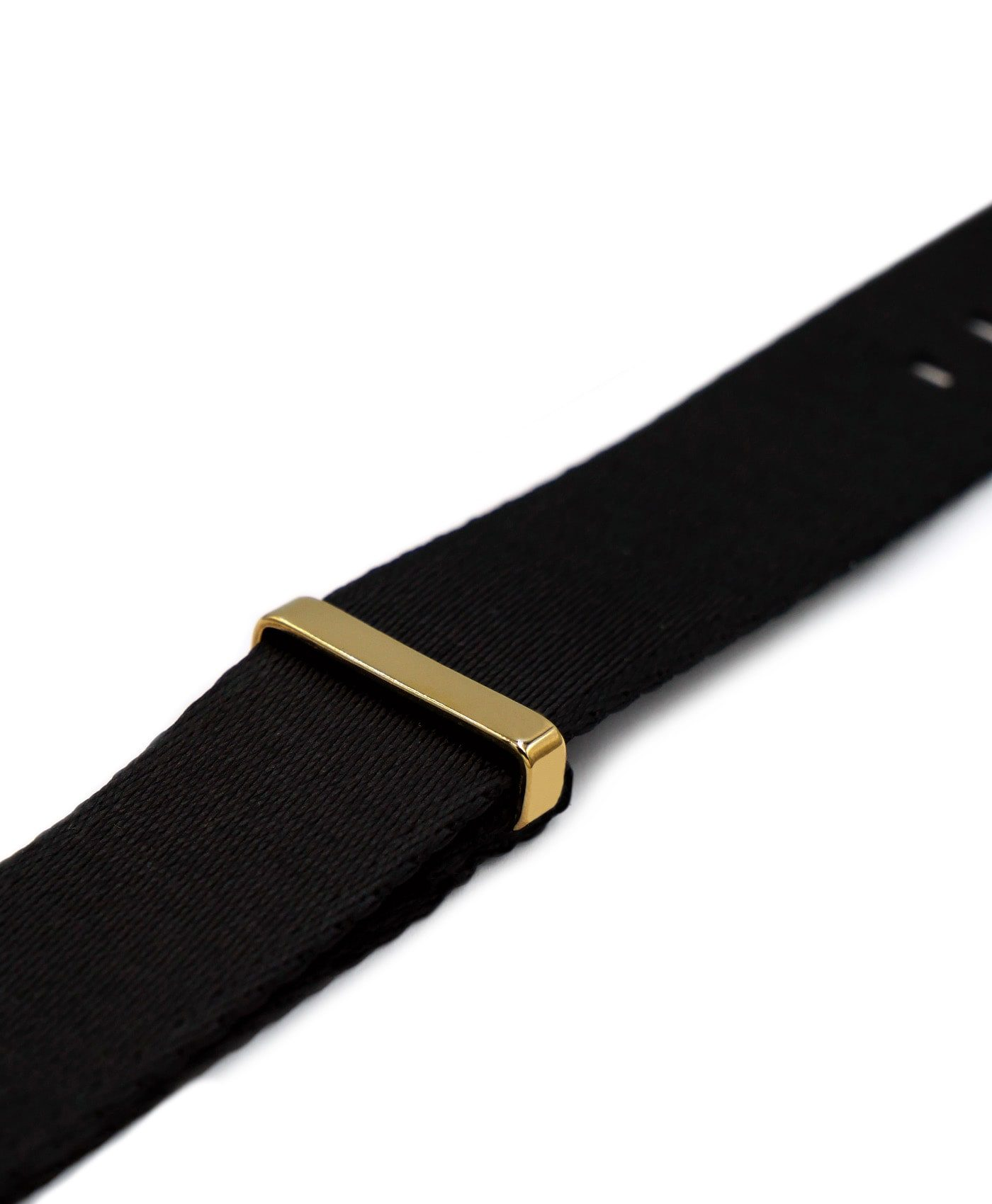 Watchbandit Premium yellow gold NATO strap side keeper