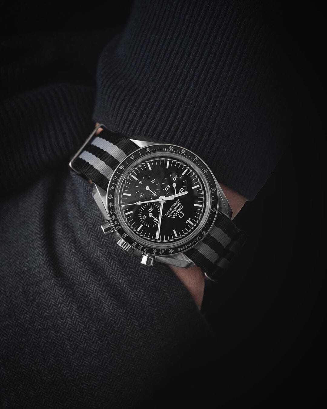wristporn nato strap omega speedmaster by gulenissen