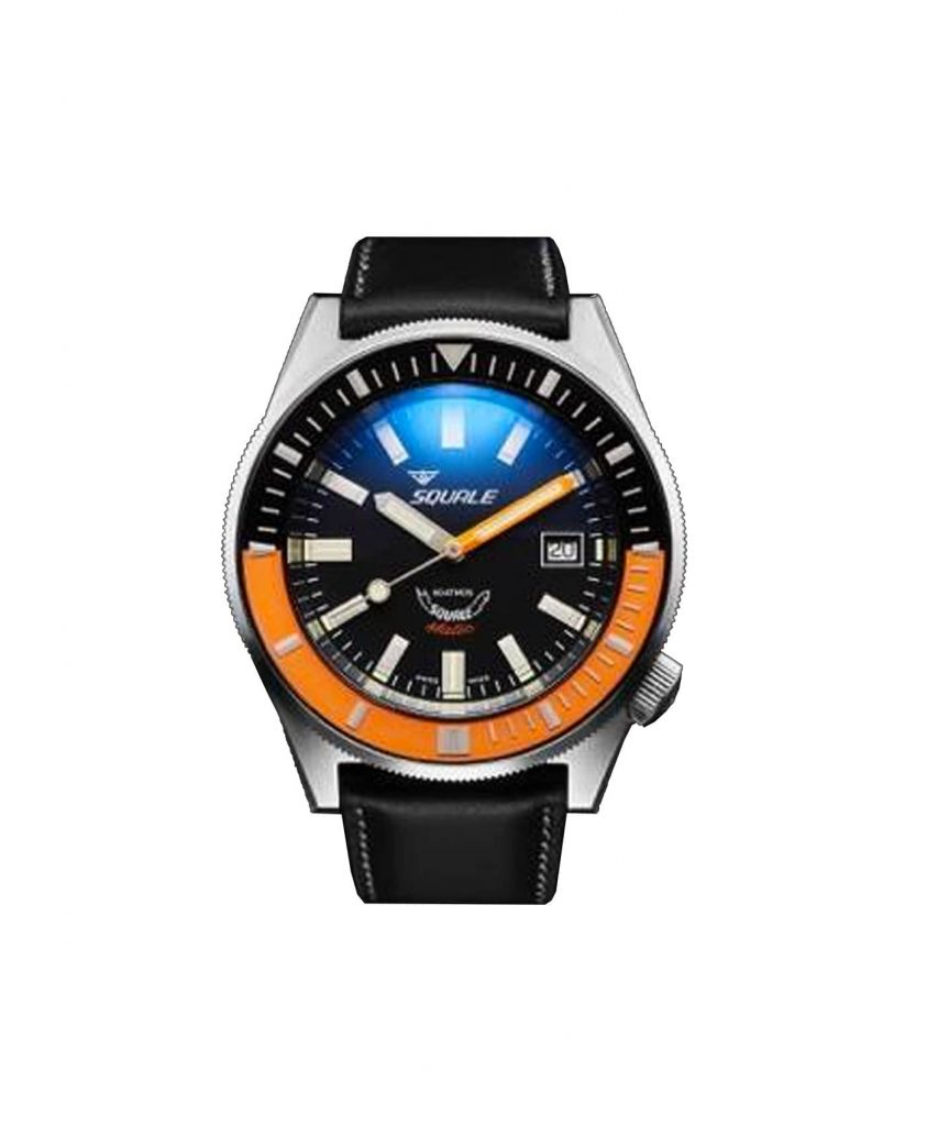 Squale Squalematic 60 ATM Black Orange front