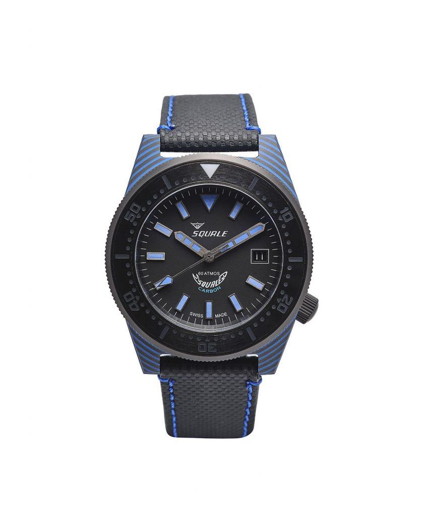 Squale T183 Diver carbon fiberglass case watch front