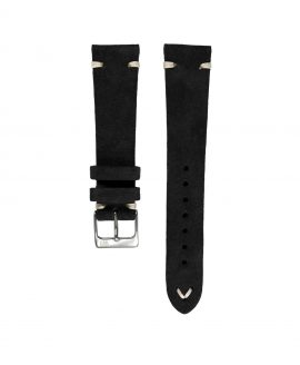 WB Original black suede watch strap front