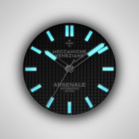 Meccaniche Veneziane Arsenale swiss superluminova lume