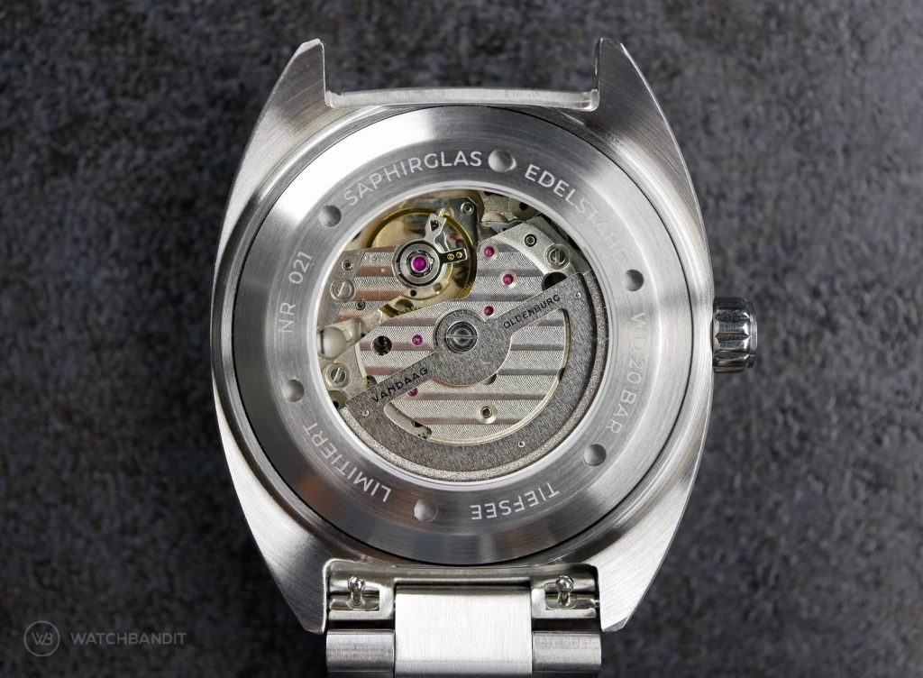 VANDAAG Tiefsee deep sea Miyota 821A automatic movement case back