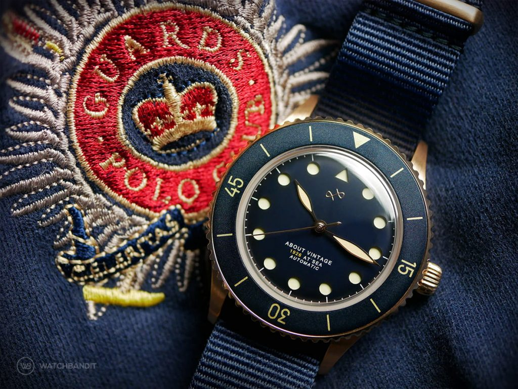 About Vintage 1926 All Black Automatic Blue Gold Mood