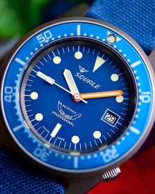 Squale 1521 Series 026 A Sandblasted Ocea Watchbandit blue canvas strap - Picture: @the.automatic.diver