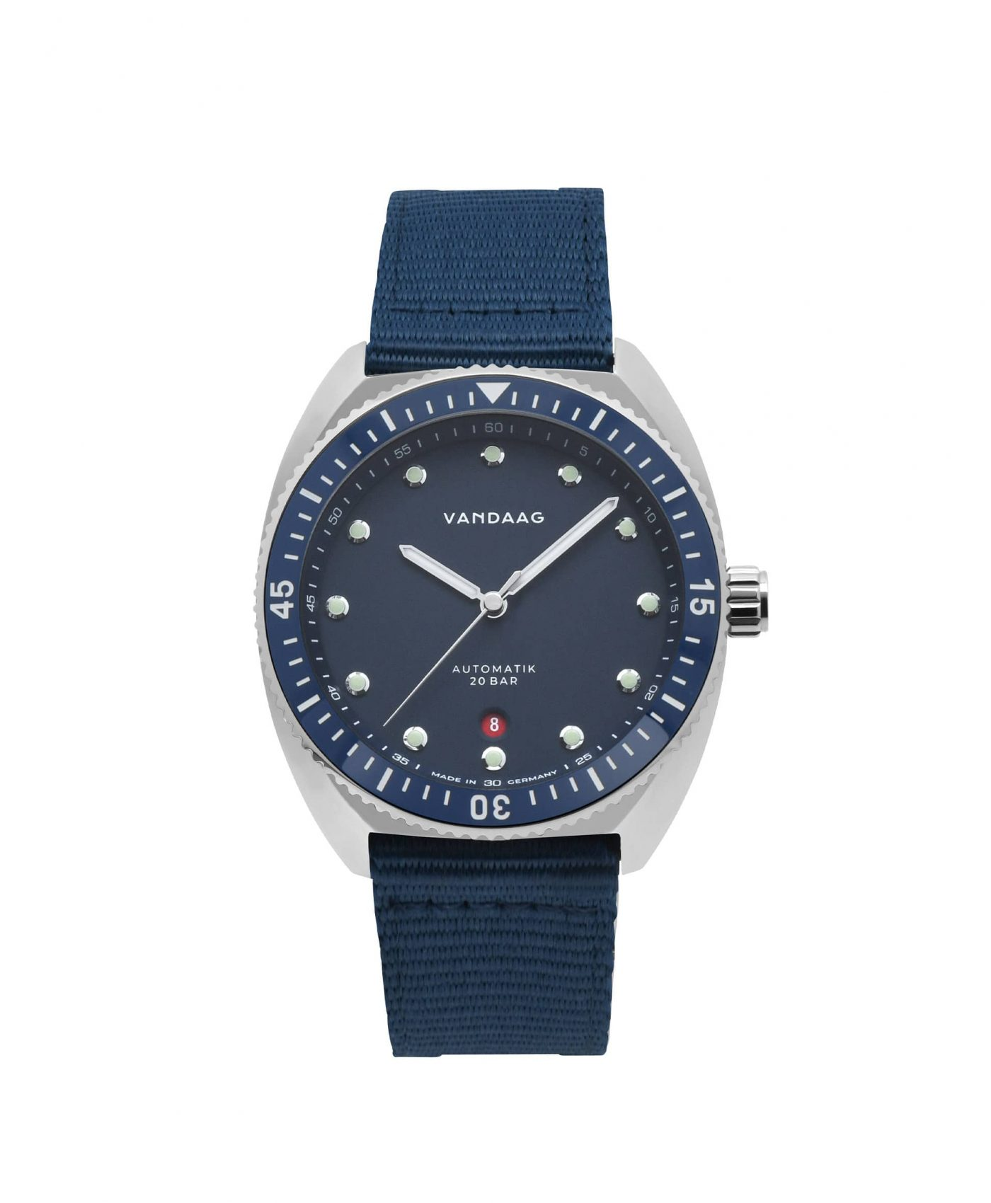 Vandaag Tiefsee Automatic Blue nylon strap