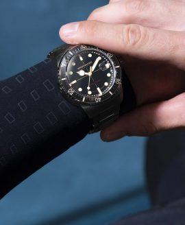 Spinnaker Tesei Mille Metri - EBONY BLACK SP-5090-11 Wristshot