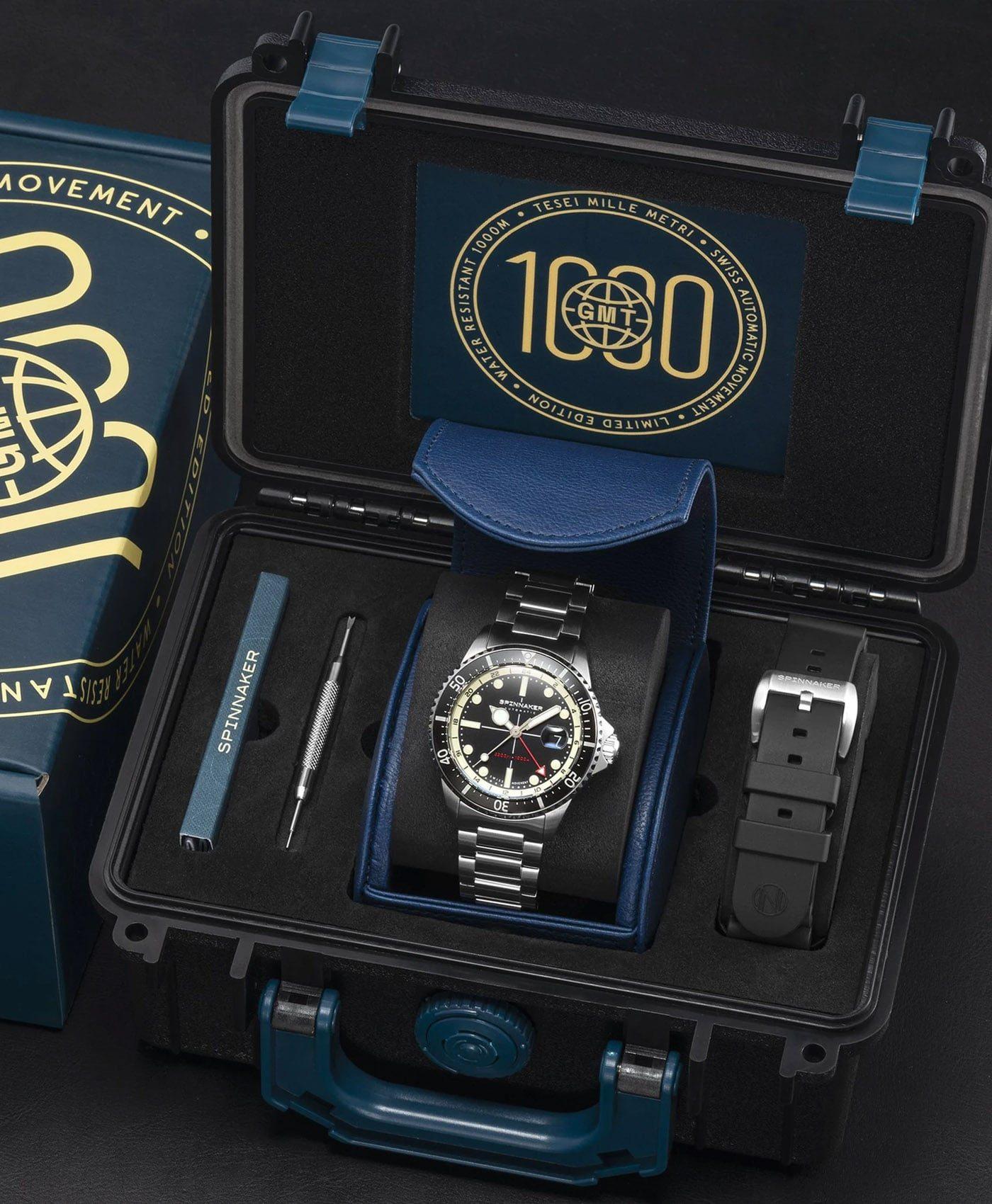 Spinnaker Tesei Mille Metri GMT - Midnight Black SP-5091-11 Box
