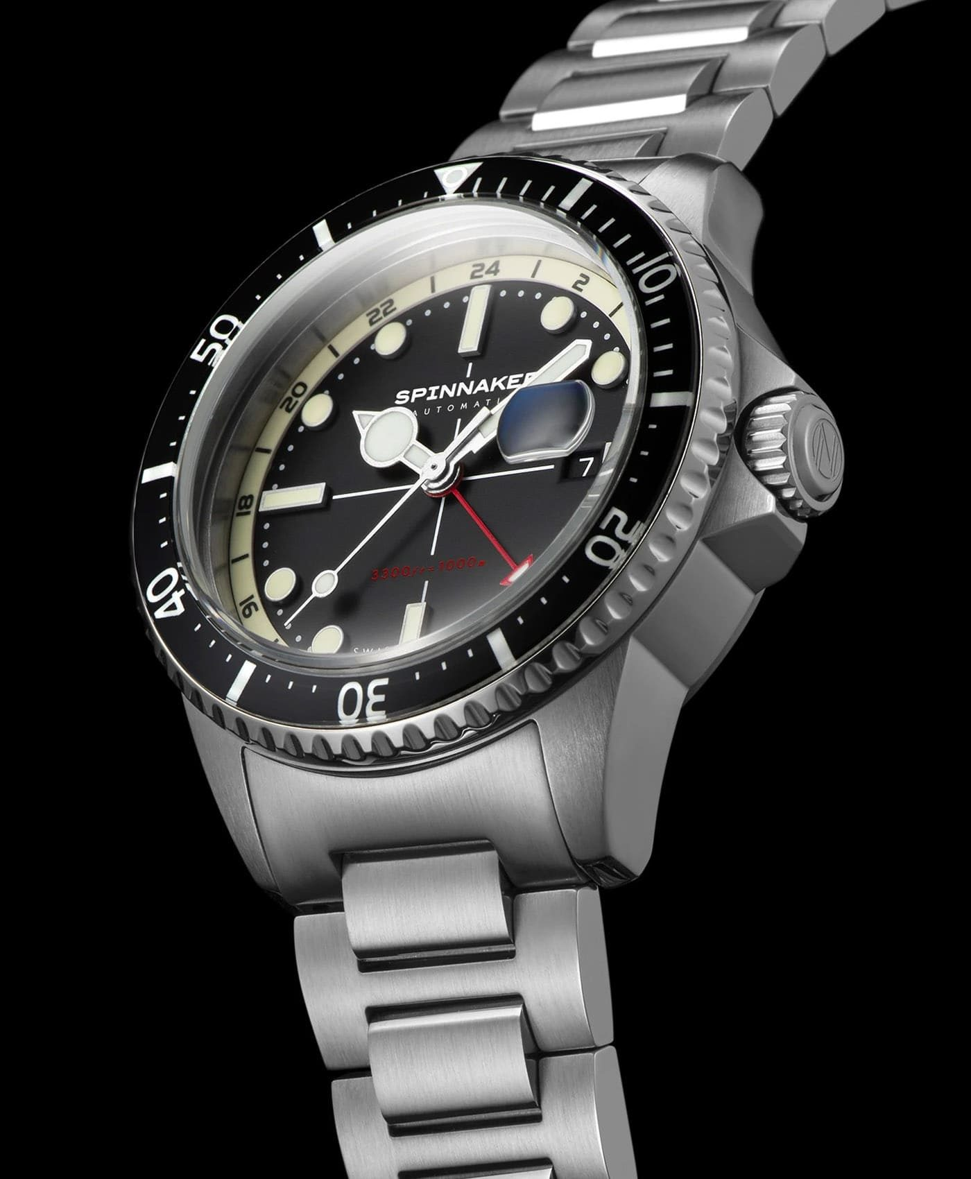 Spinnaker Tesei Mille Metri GMT - Midnight Black SP-5091-11 Side
