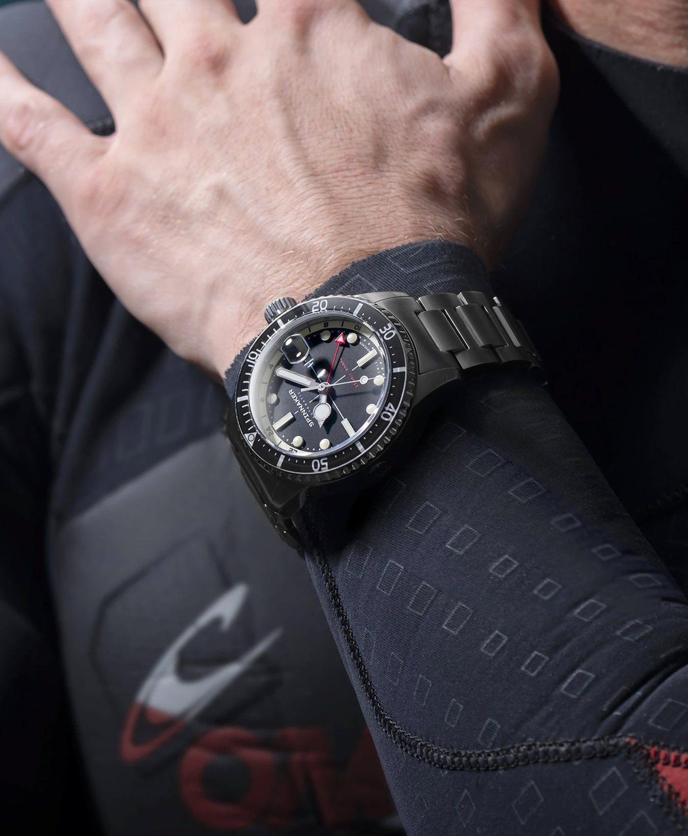 Spinnaker Tesei Mille Metri GMT - Midnight Black SP-5091-11 Wrist shot