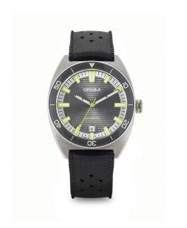 Circula watch AquaSport STP 1-11 Rubber Strap Grey Green with relief lines