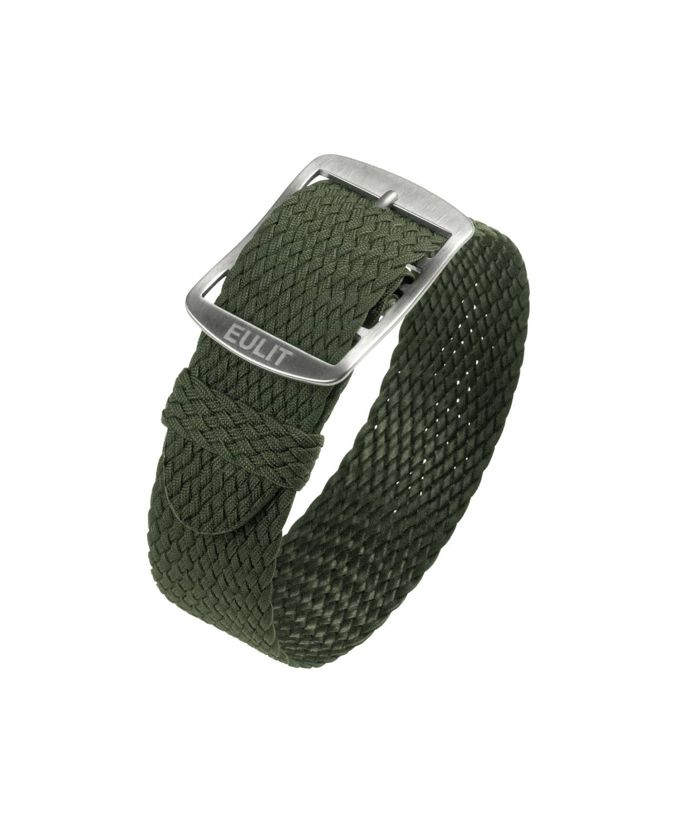 Eulit Baltic Perlon Watch Strap_Olive Green