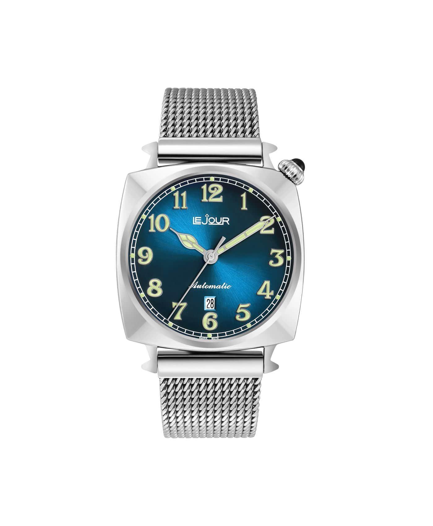LJ-HR-002 blue sunray dial Front
