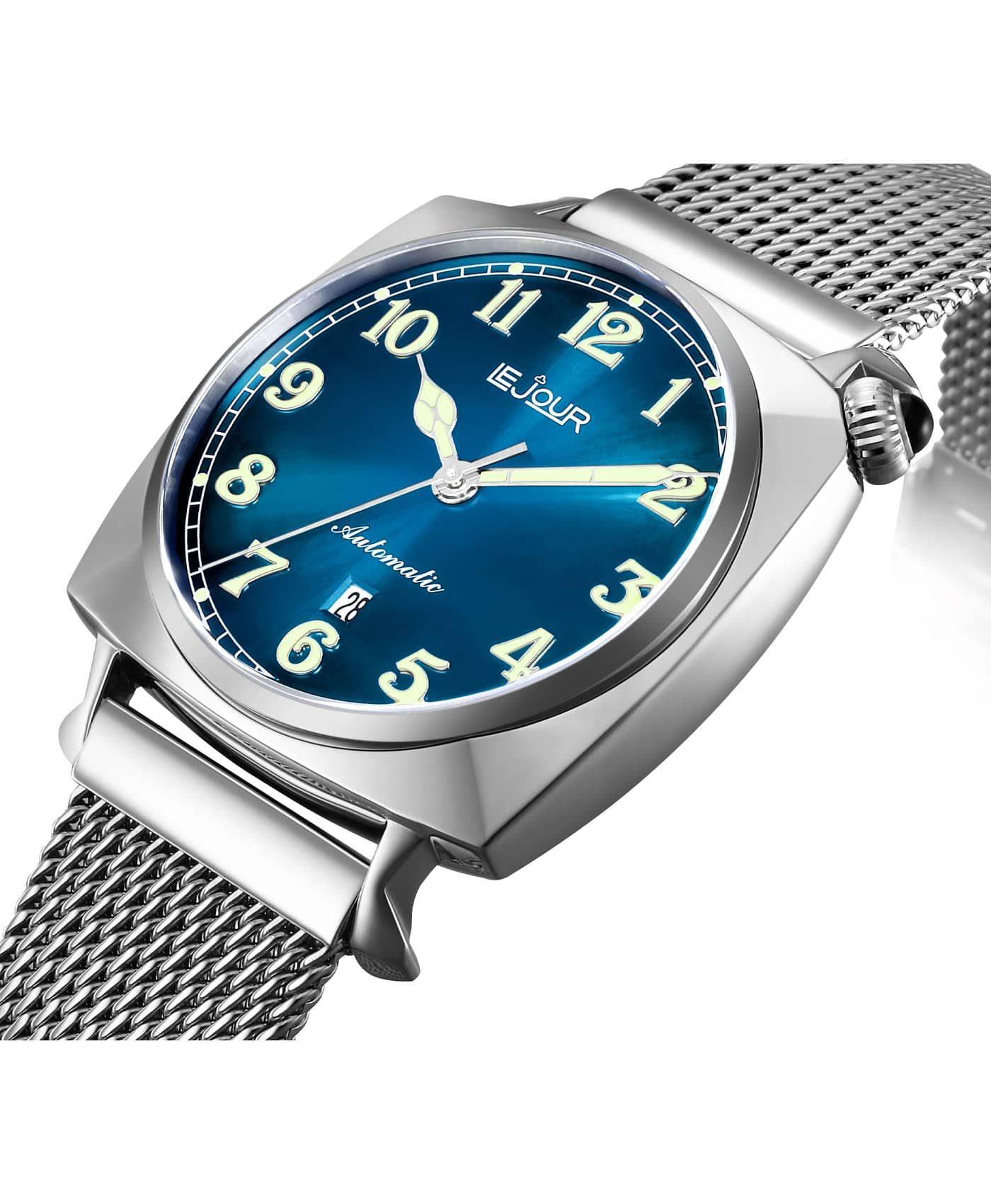 LJ-HR-002 blue sunray dial Side