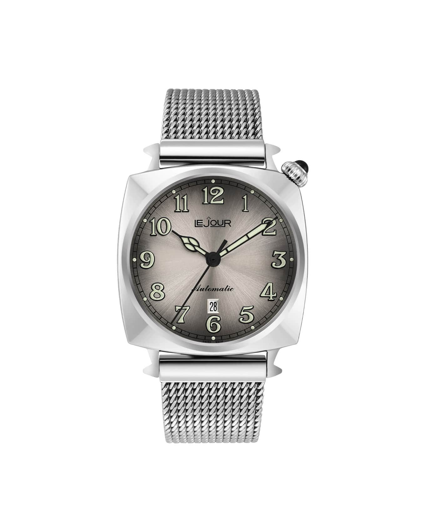 LJ-HR-003 silver sunray dial Front
