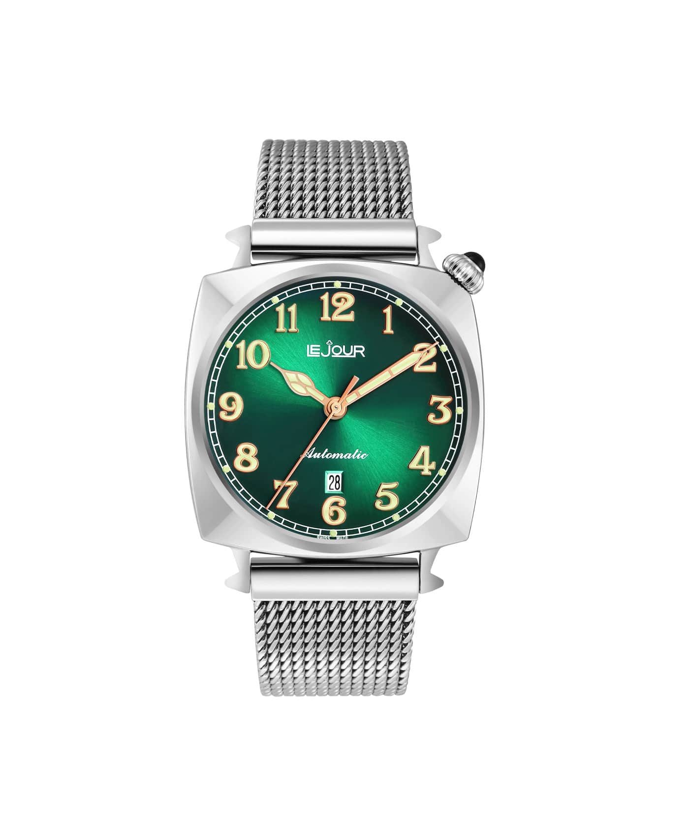 LJ-HR-004 green sunray dial Front
