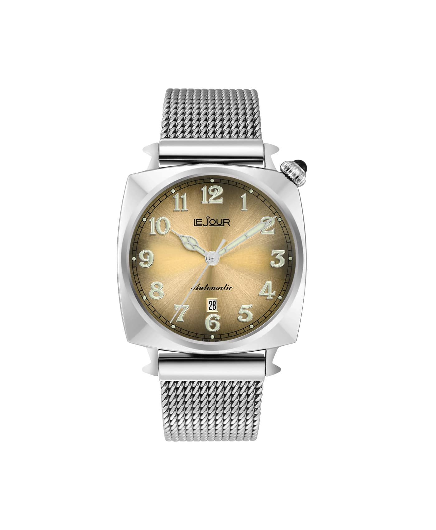 LJ-HR-005 champagne sunray dial Front