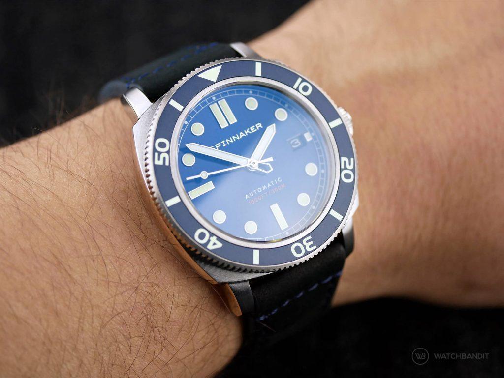 Spinnaker – Hull Diver – SP-5088-02 - Wrist shot reflection