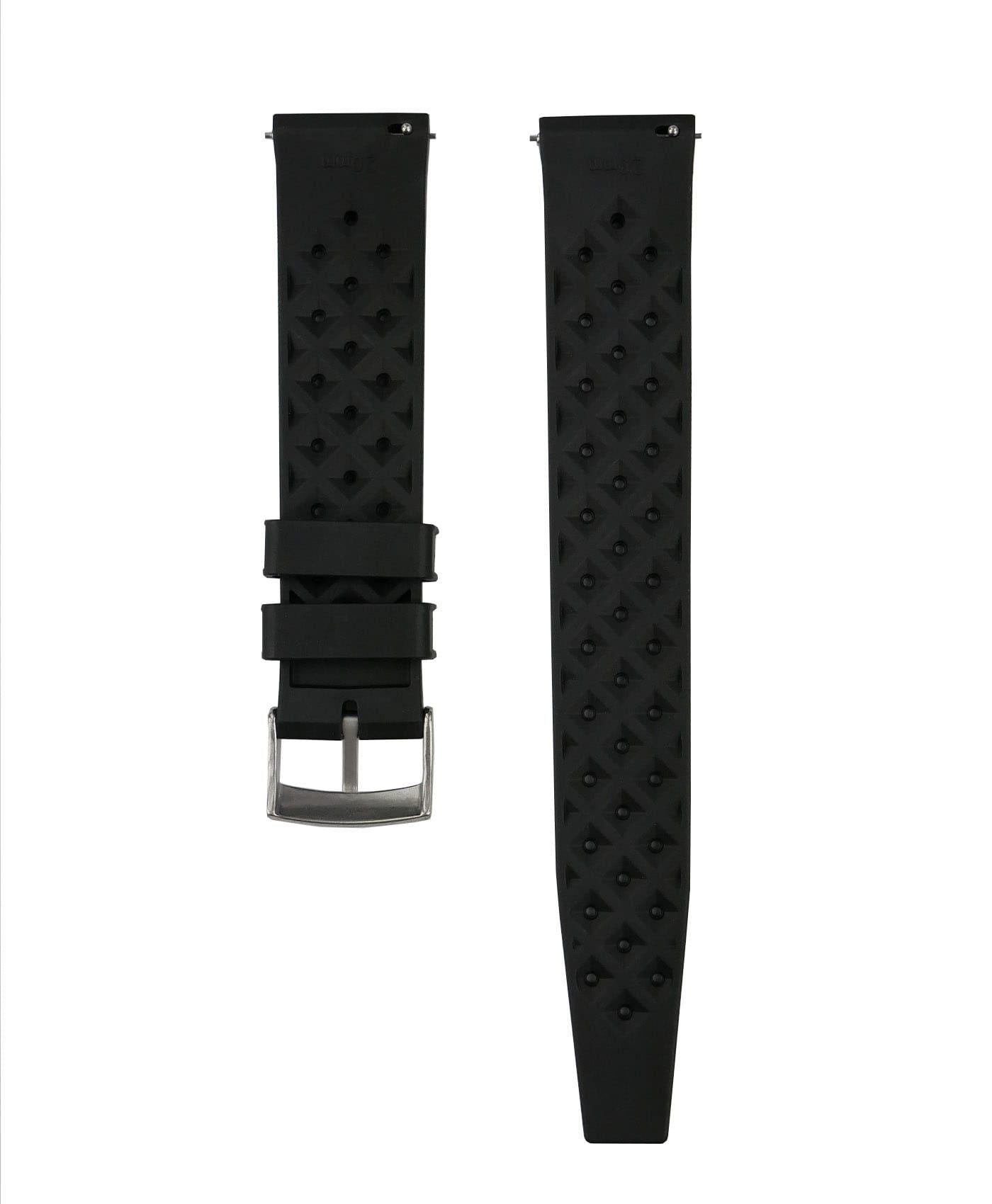 Tropical Rubber watch strap_Black_Back