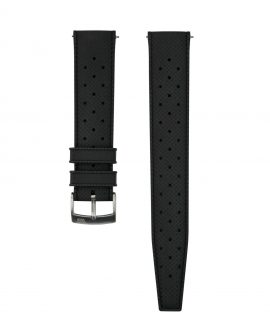 Tropical Rubber watch strap_Black_Front