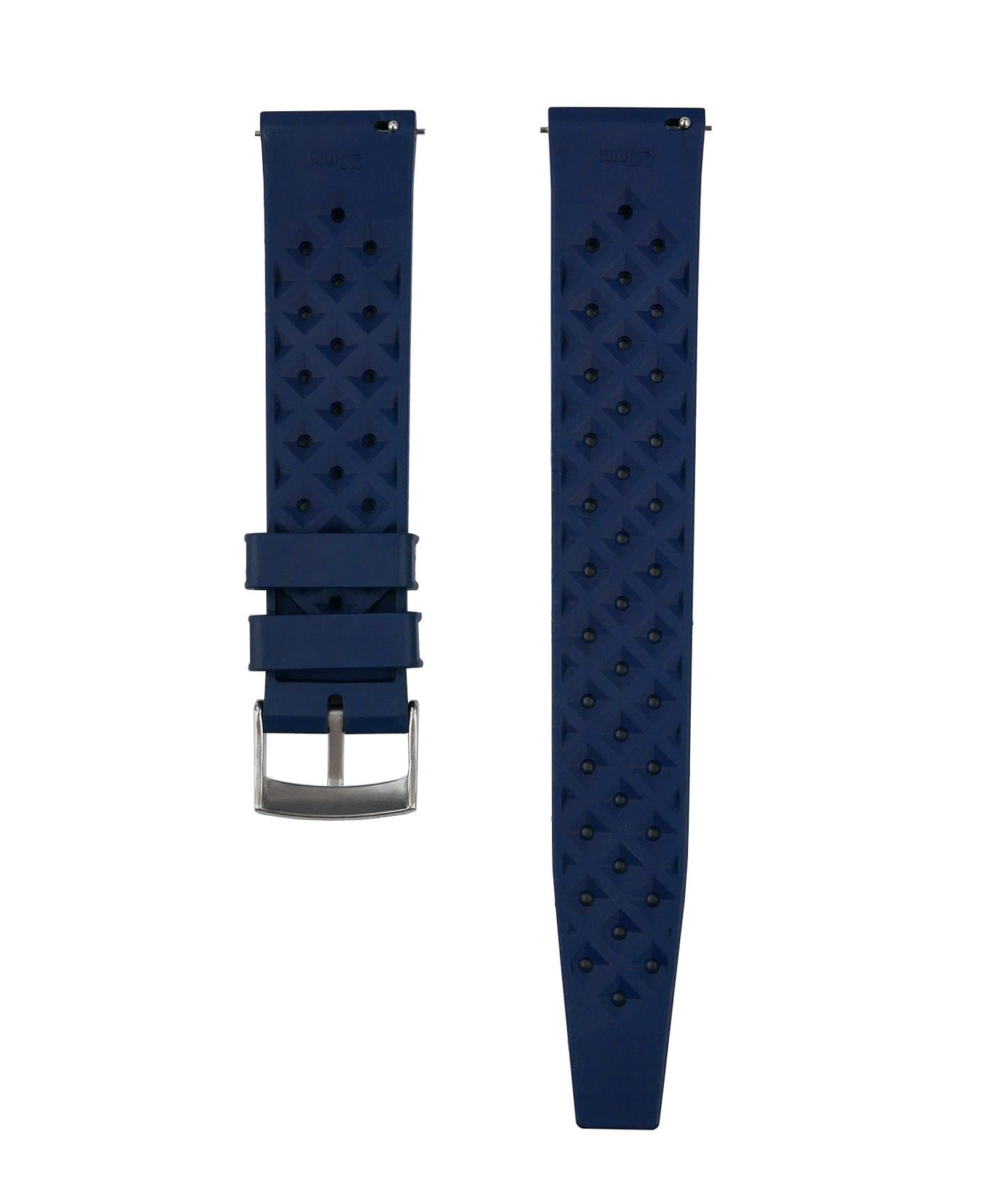 Tropical Rubber watch strap_Blue_Back