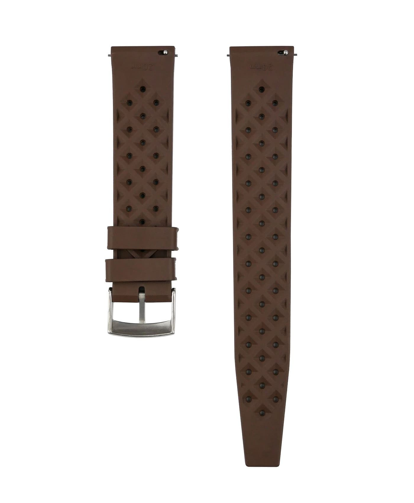Tropical Rubber watch strap_Brown_Back