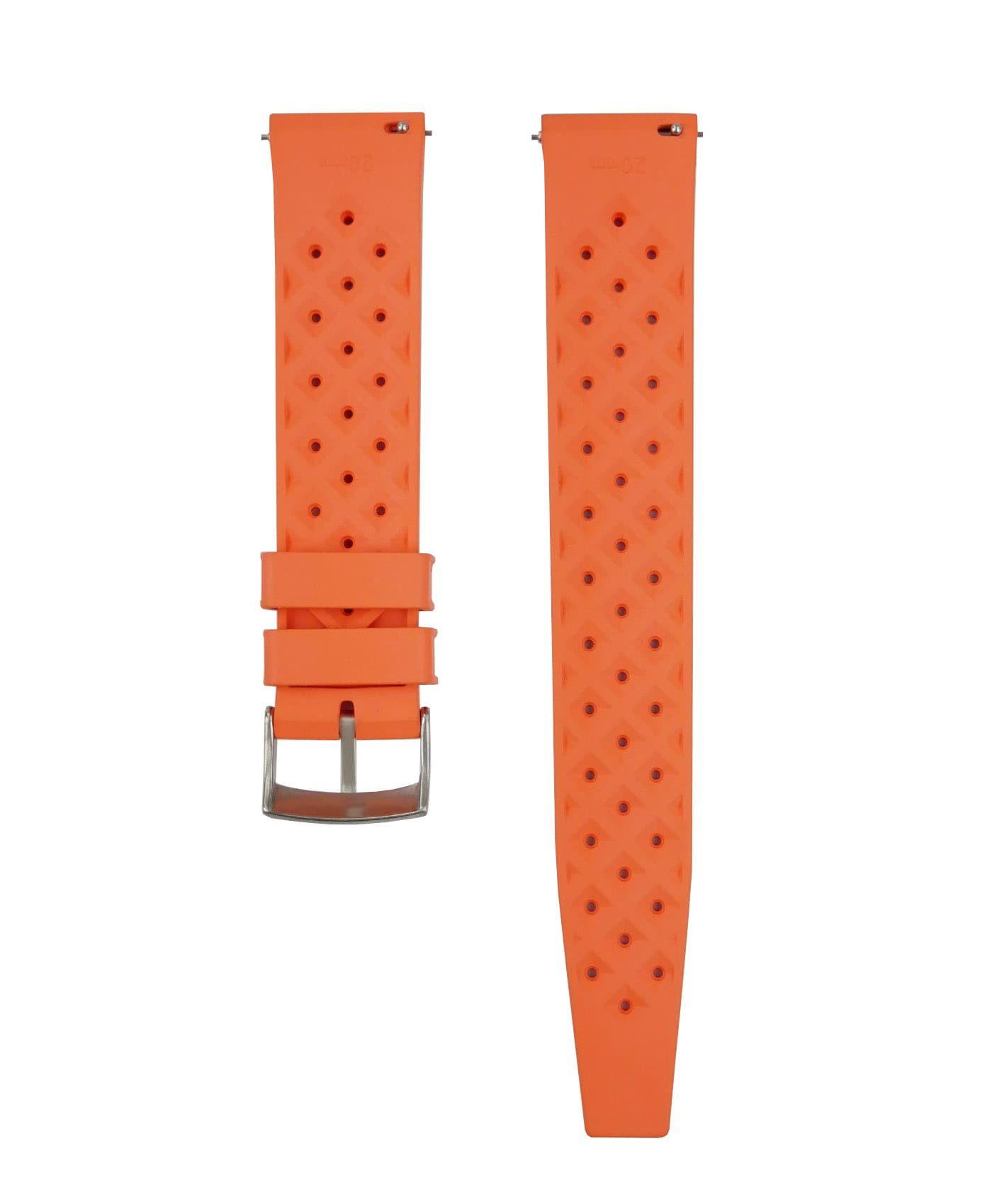 Tropical Rubber watch strap_Orange_Back