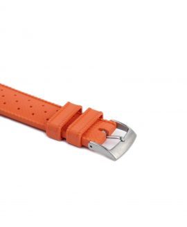 Tropical Rubber watch strap_Orange_Buckle