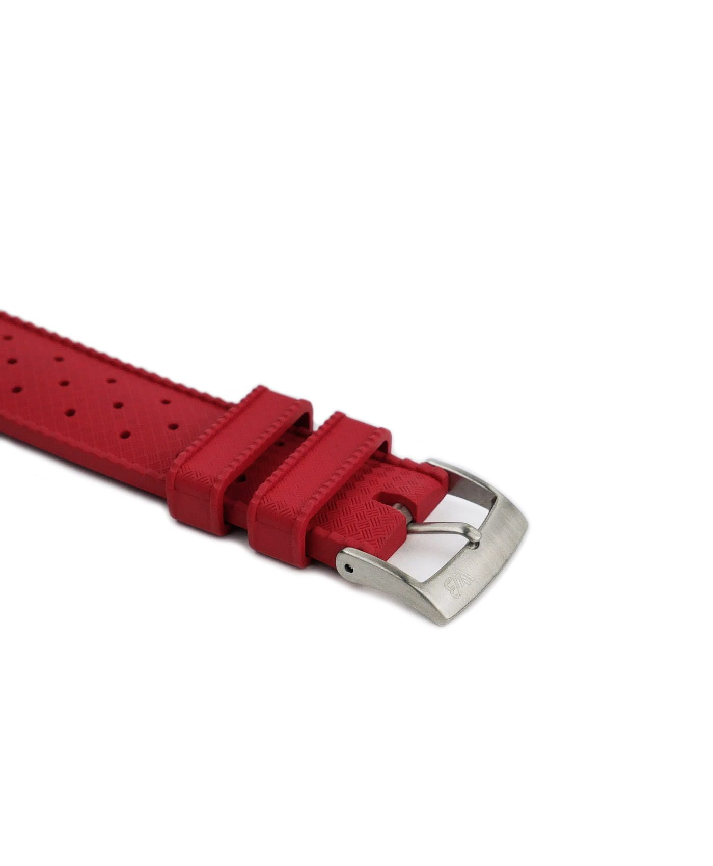 Tropical Rubber watch strap_Red_Buckle