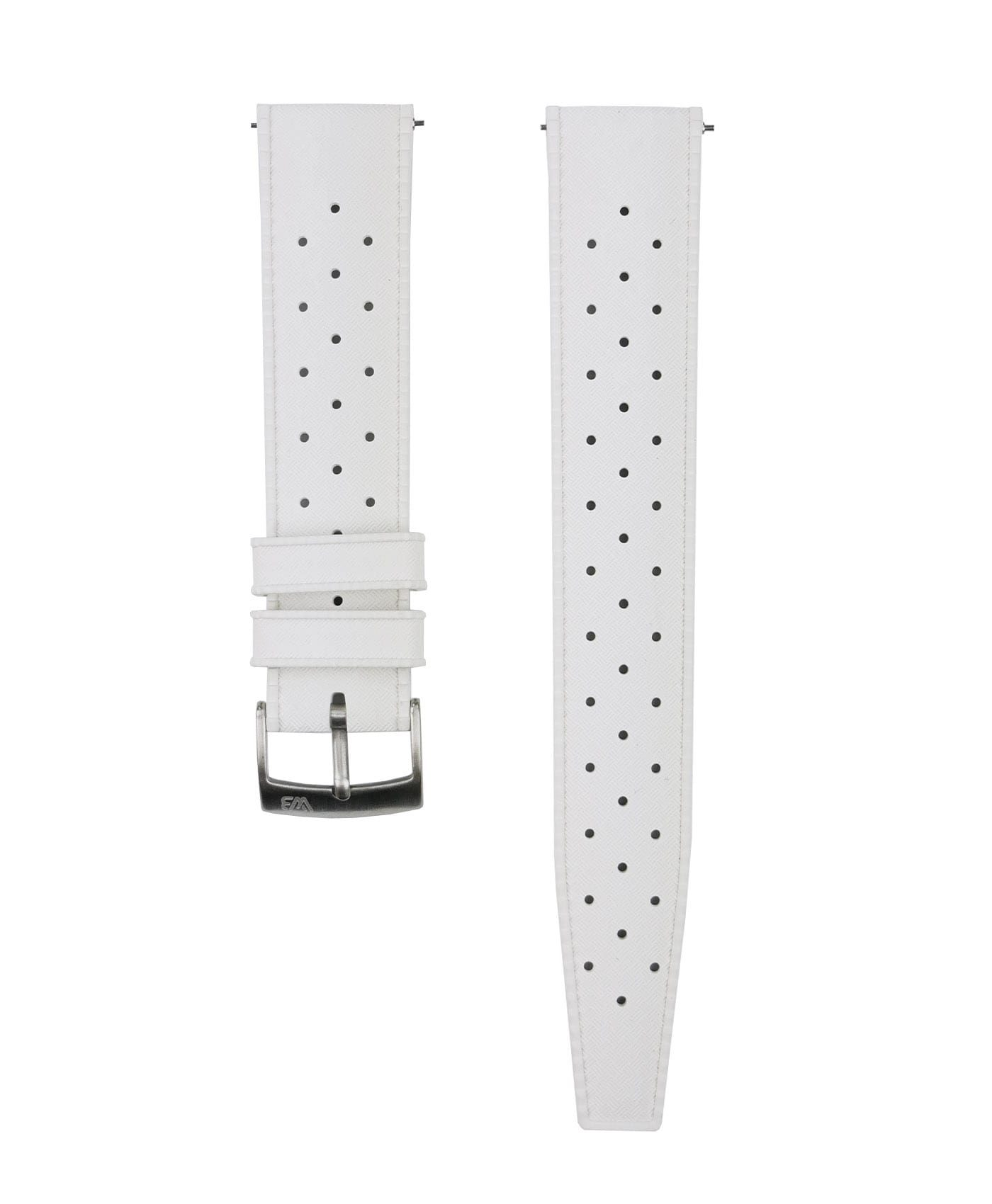 Tropical Rubber watch strap_White_Front