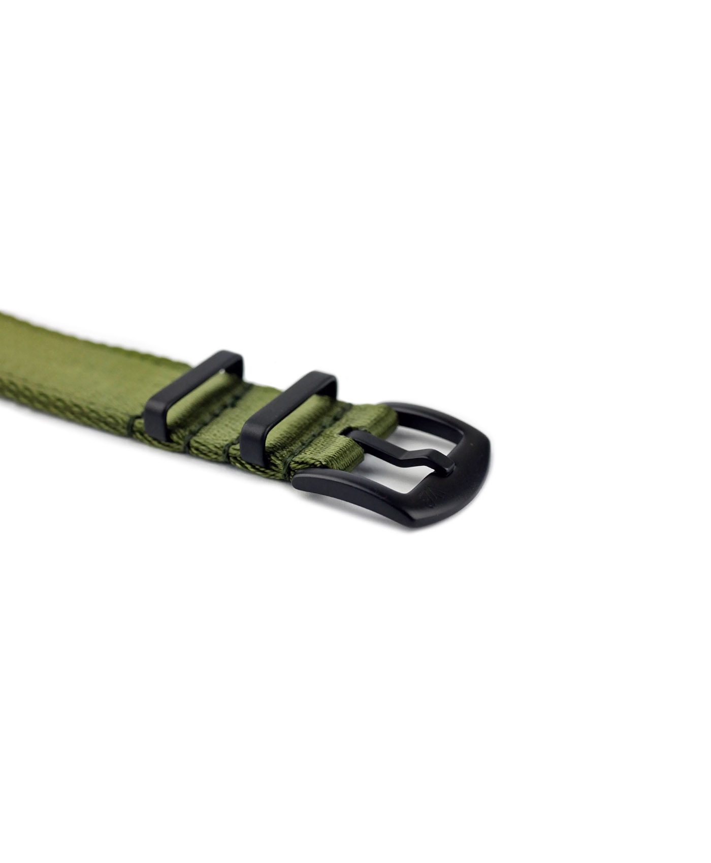 WB_Two_Piece_Nato_straps_green_black_PVD_buckle