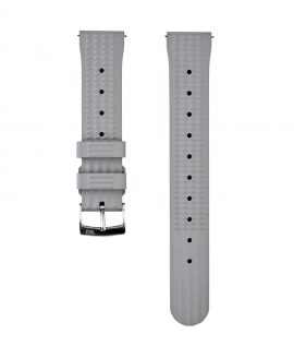 Waffle Rubber watch strap_Grey_Front
