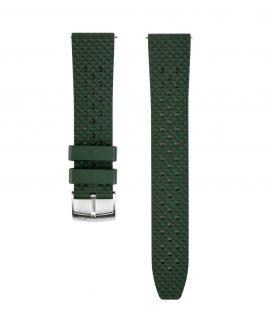 Rhombus FKM Rubber watch strap_Green_Front