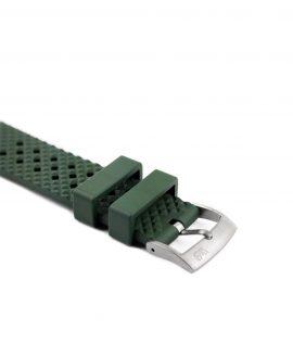 Rhombus Rubber watch strap_Green_Side