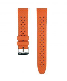 Rhombus FKM Rubber watch strap_Orange_Front