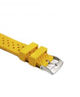 Rhombus Rubber watch strap_Yellow_Side