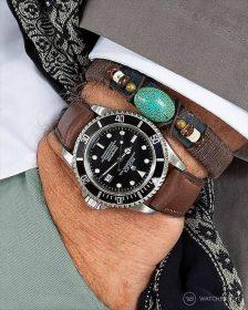 Rolex Seadweller on Barington Chronomaster Dark Brown Pocket Shot