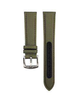Premium Sailcloth watch strap green WB Original front