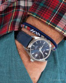 Seiko Automatic Pocket Shot navy blue sailcloth strap