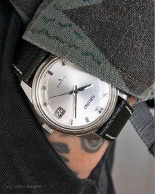 Seiko black sarb033 pocketshot textured leather strap by Watchbandit