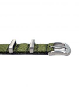 Premium_Nato-straps brushed_green_buckle