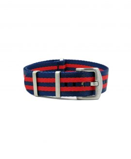 Premium_Nato-straps brushed_red blue striped_front