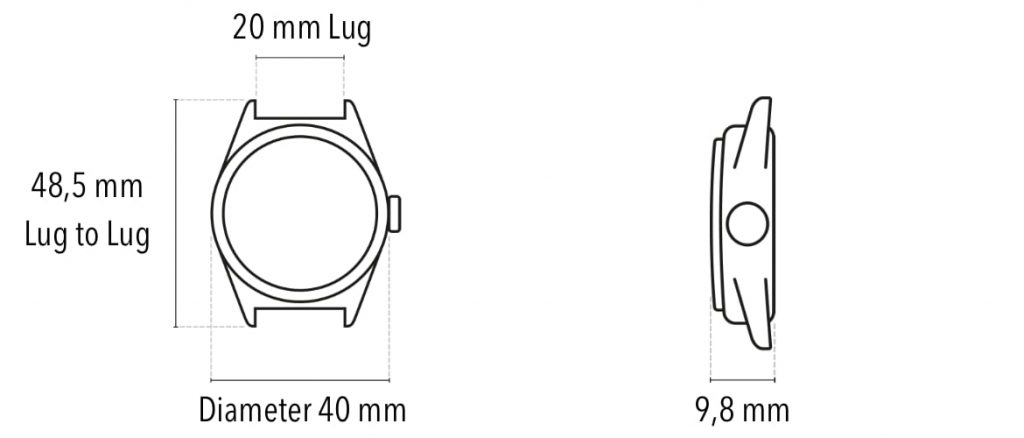 Subdelta Watches Size Info