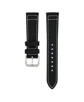 Wristporn Sailcloth Watch strap black-front