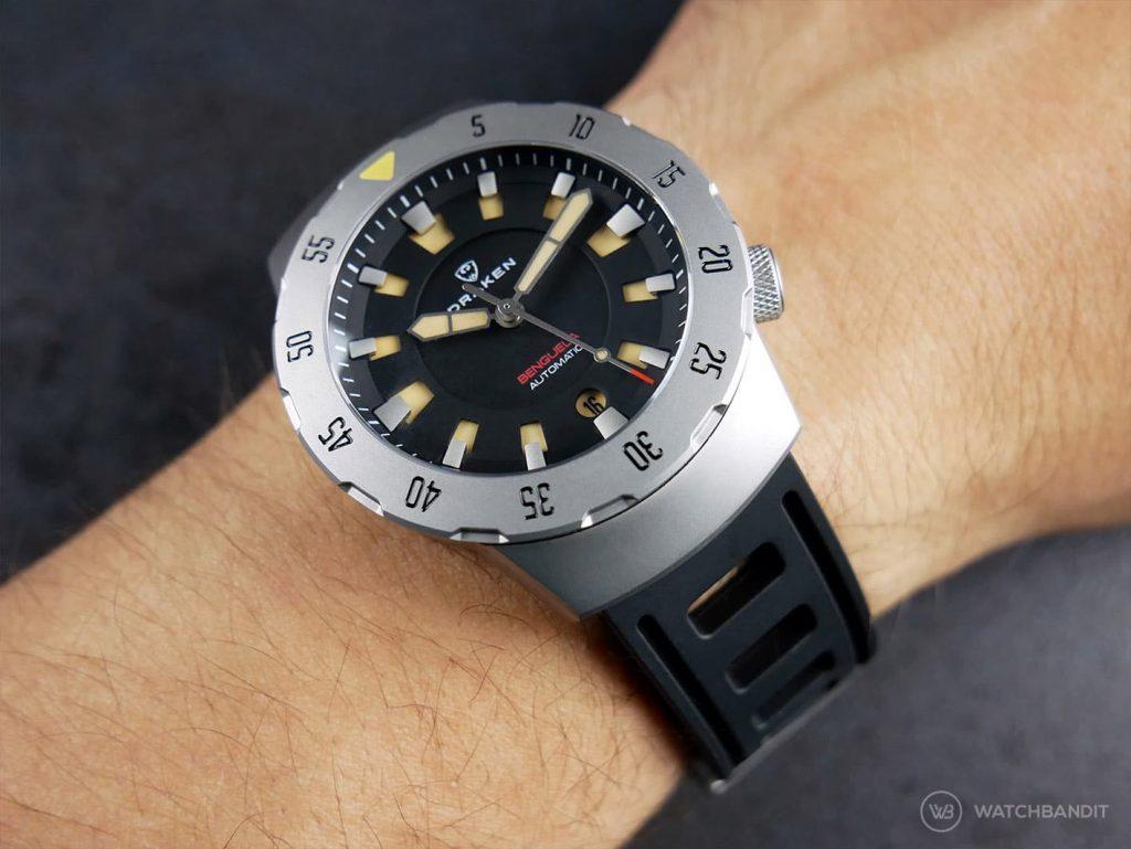 Draken Bengula Watch - Rubber strap wrist shot