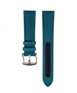 Premium Sailcloth watch strap petrol WB Original front