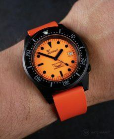 Orange Classic-Style rubber strap by WB Original