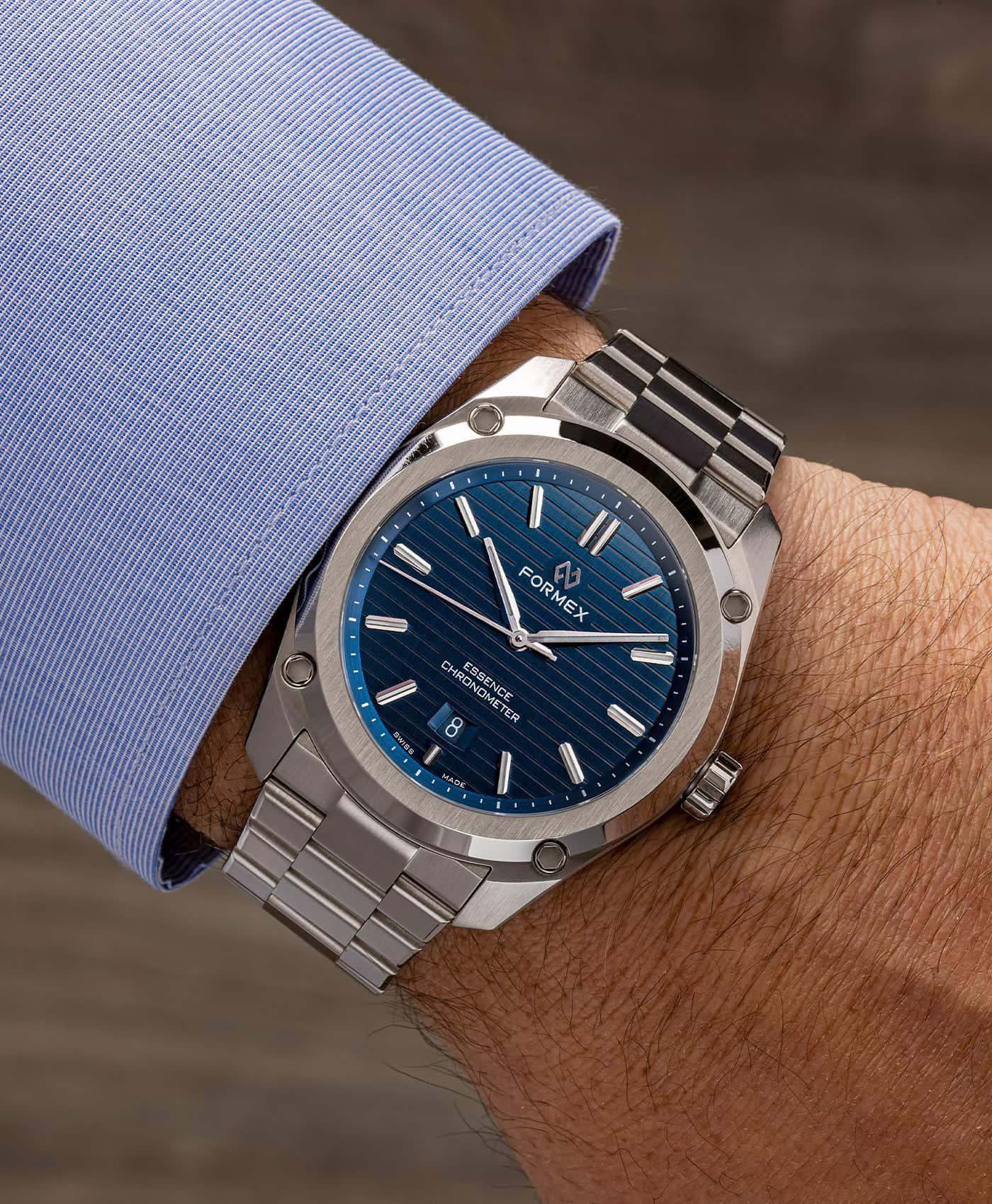 Formex - Essence FortyThree - Automatic Chronometer Blue dial - wrist shot