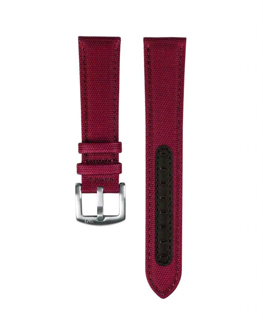 Premium Sailcloth watch strap Burgundy_WB Original_front