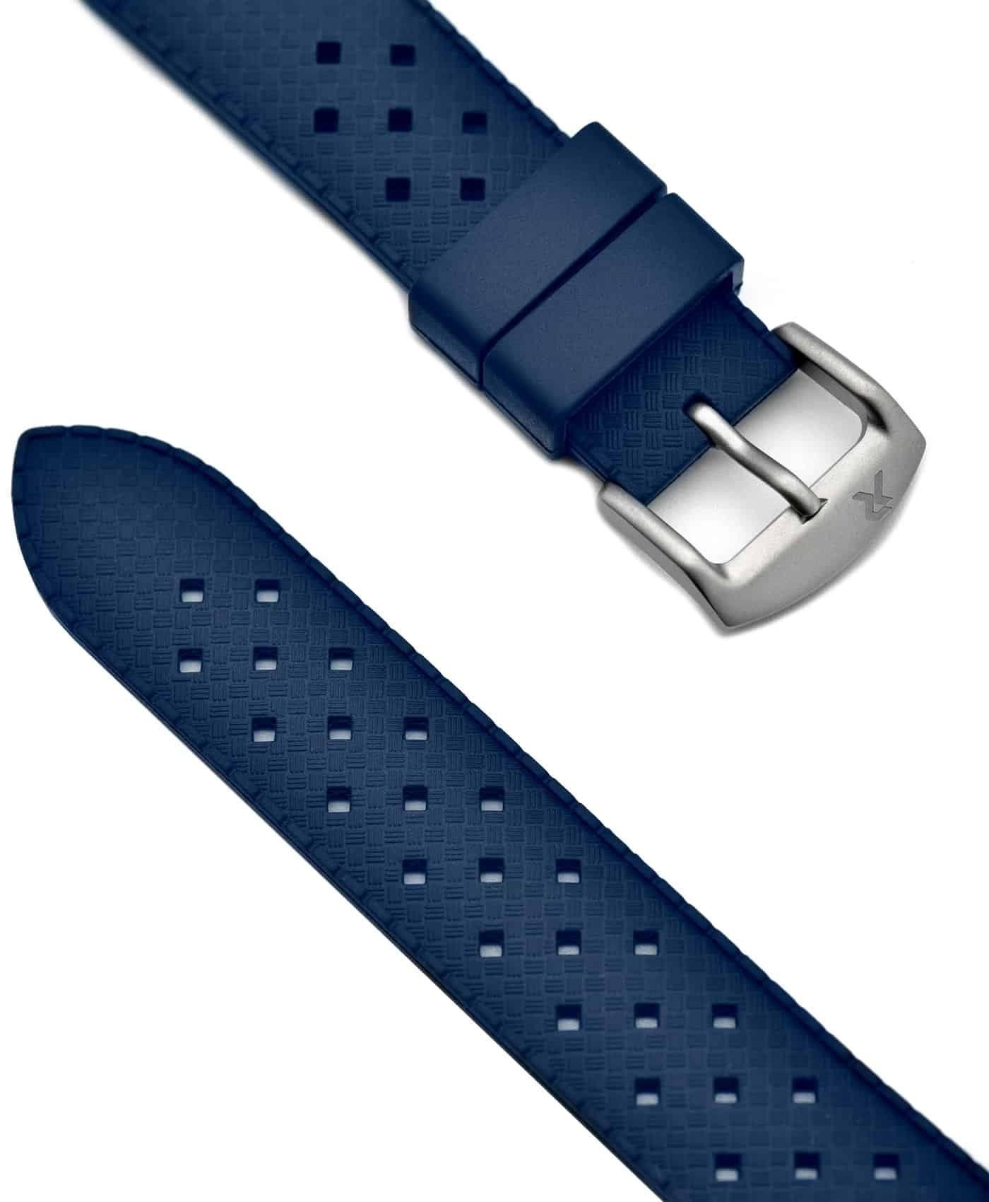 RZE - Tropical Style Rubber Strap - 20mm - Blue
